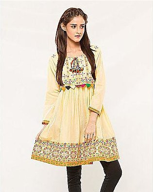Blushing Boutique Yellow top in cotton for girls