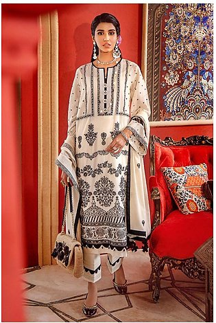Gul Ahmed Eid 2020 3 PC Embroidered-Suit with Lawn Dupatta FE-313