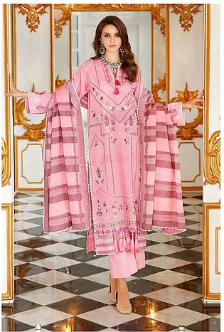 Gul Ahmed Eid 2020 3 PC Embroidered-Suit with Jacquard Dupatta FE-264