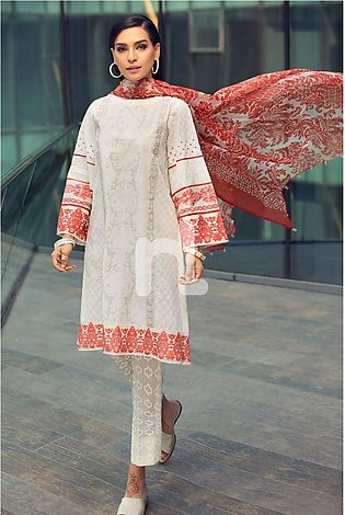Nishat Linen Eid Collection'19 41907032 Off White Printed Lawn Shirt Printed ...