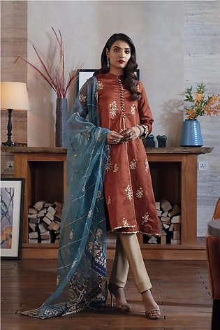Ethnic by Outfitters Boutique Suits Shirt + Dupatta WTB491789-10229257-L-17
