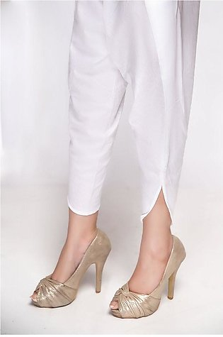 Mannat Clothing Tulip Shalwar White MC-037