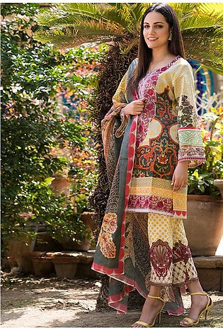 Adamjee Lawn Embroidered Collection 19 Embc-12