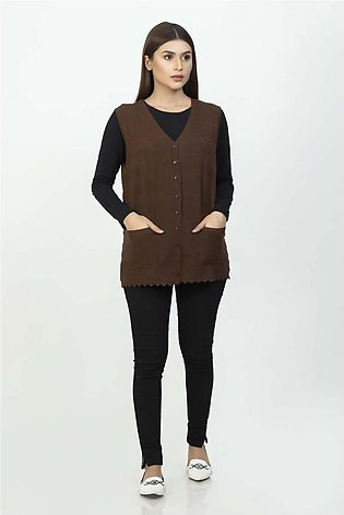 Bonanza Luxury Sweater Brown-Sando-Cardigan 19S-111-61-BROWN