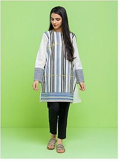 BeechTree Embroidered ShirtBTS19-CH-318-O-WHITE