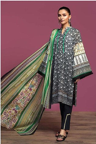 Nishat Linen Spring Summer 20 42001043-Printed Lawn, Cambric Voil 3PC