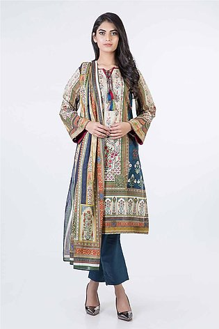 Bonanza Satrangi Pret Collection Blue-Lawn-Suit SPK193P024