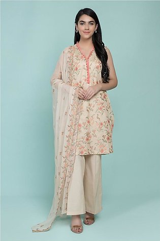 Kayseria Classic Summer Collection Dyed & Embroidered 3 Pcs Suit C 2554