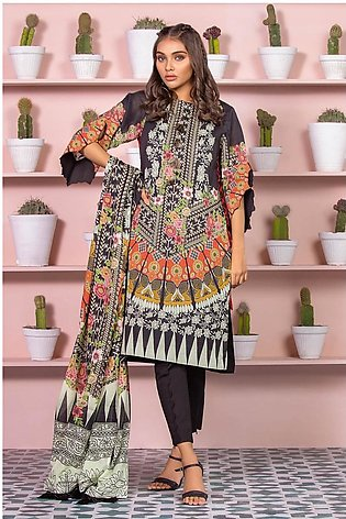 Alkaram Studio SS20 Collection 3 Piece Printed Lawn Suit With Dooria Lawn Dup...