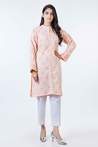 Bonanza Satrangi Pret Collection L-Peach-Jacquard-Kurti LDK191P001