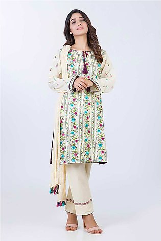 Bonanza Satrangi Pret Collection Cream-Lawn-Suit LDK193P003