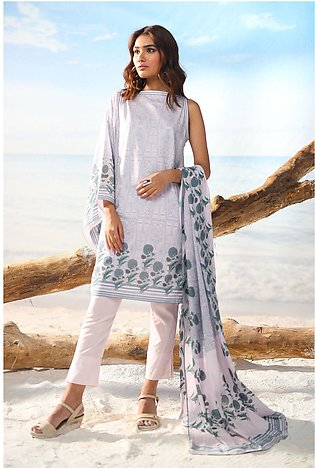 Alkaram Studio Spring Summer Collection 2 Piece Printed Suit with Lawn Dupatt...