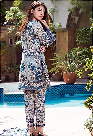 Adamjee Lawn Embroidered Collection 19 Embc-09