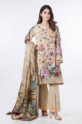 Bonanza Satrangi Pret Collection Beige-Jacquard-Suit SPK193P009