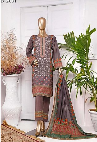 RIWAYAT Premium Unstitched Embroidered Lawn Collection R-2001-B