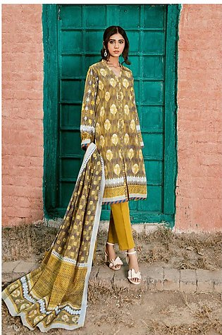 Gul Ahmed Summer Lawn20 3PC Unstitched Lawn Suit CL-803 A