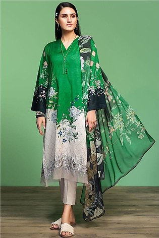 Nishat Linen Spring Summer 20 42001065-Digital Printed Embroidered Lawn, Camb...