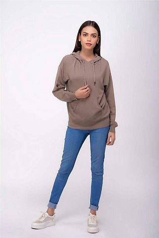 Bonanza Luxury Sweater Khaki-Full Sleeves-Hoodie 19S-015-61-KHAKI