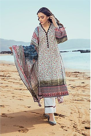 Gul Ahmed Summer Lawn20 3PC Unstitched Lawn Suit CL-822