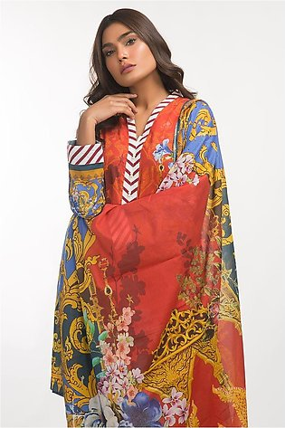 Gul Ahmed Lawn 3 PC Outfit IPS-19-79
