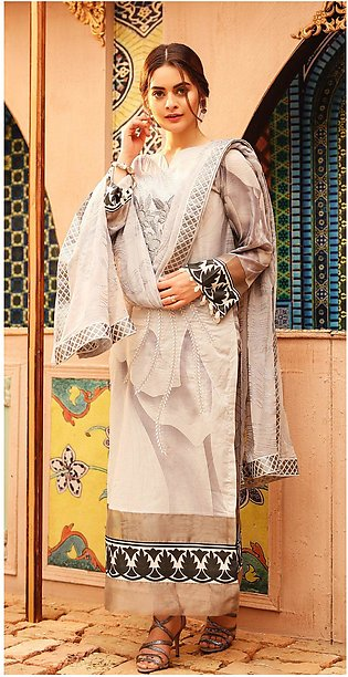 Salitex Shades of Festive Printed Lawn with Embroidered Shirt WK-295B