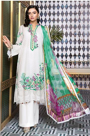 Gul Ahmed Summer Lawn20 3 PC Unstitched Swiss Voile Suit LSV-21