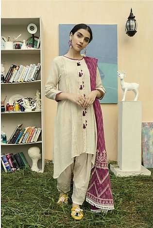 Ethnic by Outfitters Casual Suit (Shirt + Dupatta)WTC491278-10219709-14-VA-35