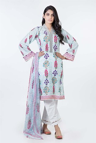 Bonanza Satrangi Pret Collection L-Ferozi-Lawn-Suit SPK193P021