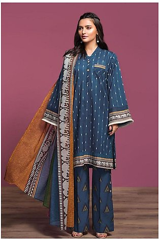 Nishat Linen Spring Summer 20 42001057-Printed Lawn, Cambric Voil 3PC