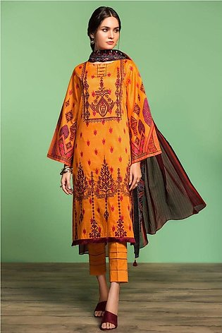 Nishat Linen Spring Summer 20 42001022-Printed Embroidered Lawn Voil 2PC