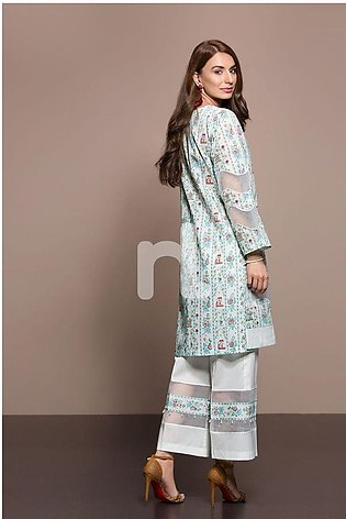 Nishat Linen Summer 2019 41906007-Lawn Green Printed 2PC