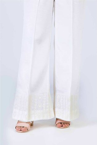 Bonanza Satrangi White-Cambric-Trouser LTS-377-WHITE