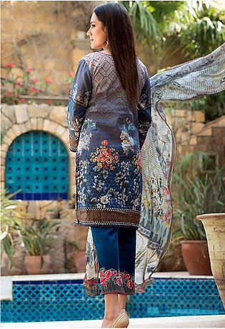 Adamjee Lawn Embroidered Collection 19 Embc-02