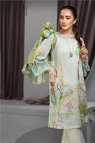 Nishat Linen Eid Collection'19 41907009 Green Digital Printed Lawn Shirt Dyed...