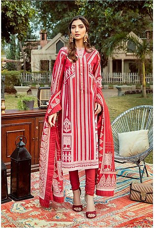 Gul Ahmed Eid 2020 3 PC Lacquer Printed-Suit with Georgette Dupatta FE-261