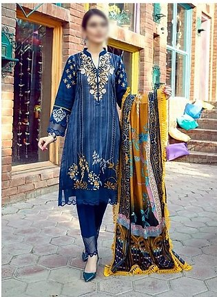 AL ZOHAIB Anum Lawn Collection Monsoon Lawn Collection MLC V-03 D-9A