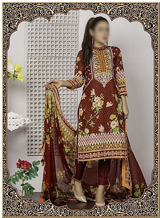 Rangoli Ruqayyah Printed & Embroidered Lawn Collection Vol-2 19 RHS-3B