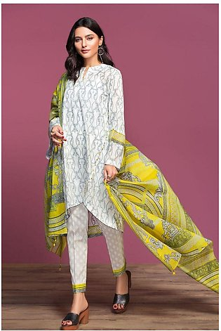 Nishat Linen Spring Summer 20 42001045-Printed Lawn, Cambric Voil 3PC