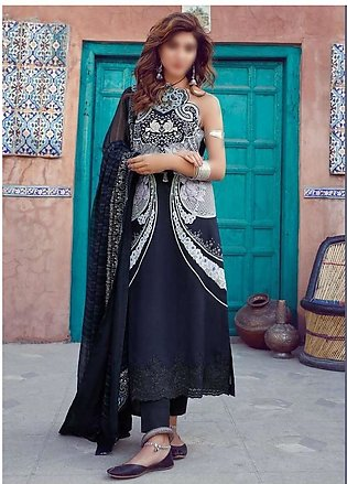 MISCELLANEOUS Kinaar Unstitiched Luxury Lawn Collection D-07