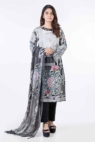 Bonanza Satrangi Pret Collection D-Gray-Lawn-Suit LPK192P006