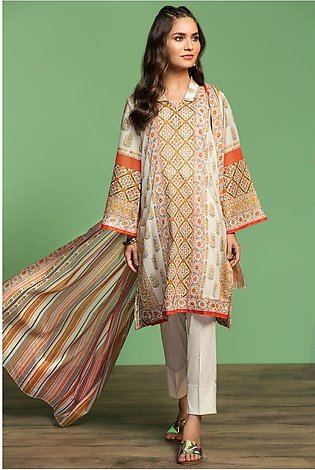 Nishat Linen Spring Summer 20 42001042-Printed Lawn, Cambric Voil 3PC