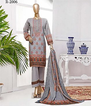 RIWAYAT Premium Unstitched Embroidered Lawn Collection R-2006