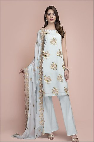Kayseria Dyed Embroidered Suit C 3259