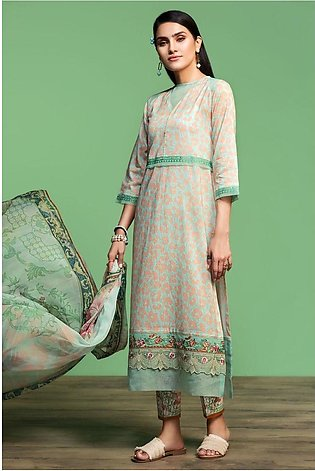 Nishat Linen Spring Summer 20 42001066-Digital Printed Embroidered Lawn, Camb...