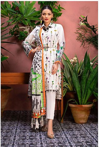 Gul Ahmed Summer Lawn20 3PC Unstitched Lawn Suit CL-812