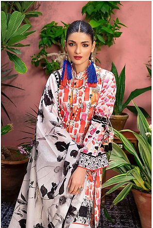 Gul Ahmed Summer Lawn20 3PC Unstitched Lawn Suit CL-813