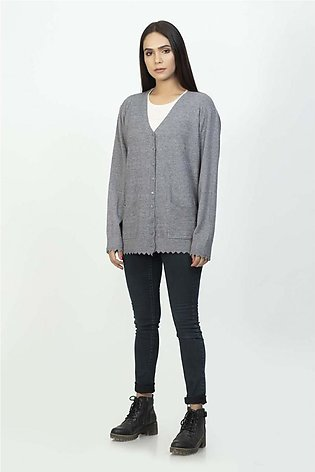 Bonanza Luxury Sweater D-Gray-Full Sleeves -Cardigan 19S-110-61-D-GRAY