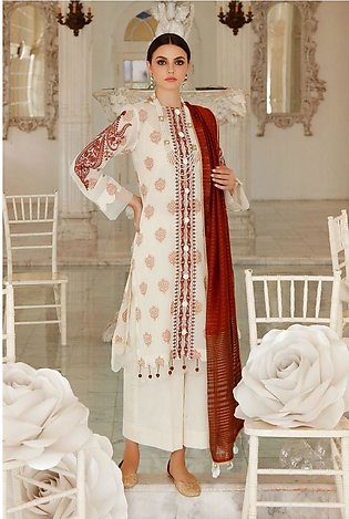 Gul Ahmed Eid 2020 3 PC Embroidered-Suit with Cotton Net Dupatta FE-267