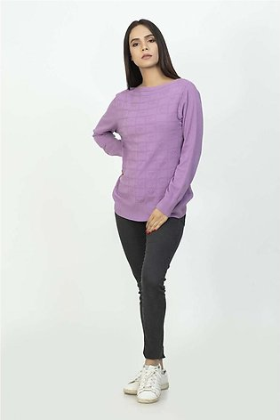 Bonanza Luxury Sweater Purple-Full Sleeves-Pull Over 19S-106-61-PURPLE