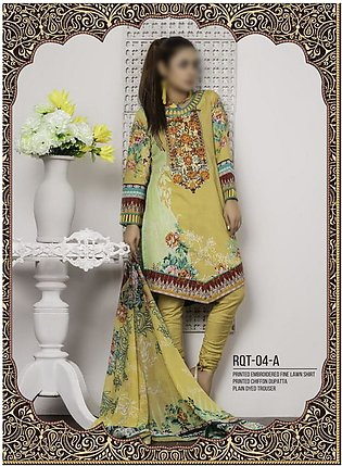 Rangoli Ruqayyah Printed & Embroidered Lawn Collection Vol-2 19 RHS-4A